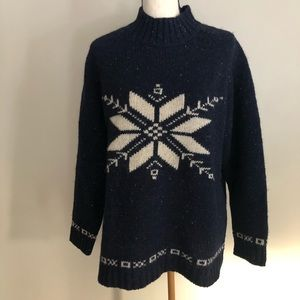 Eddie Bauer Wool Snowflake Sweater